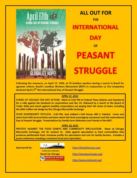 International Day of Pesant Struggle 2012